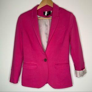 H&M blazer hot pink